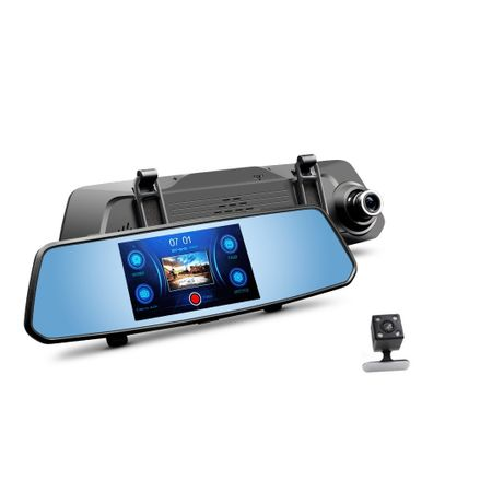 Camera auto cu touch screen FHD 1080P dubla, 2 ani garantie